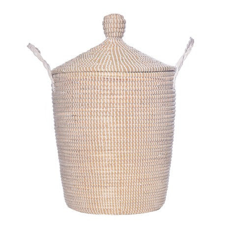 Minimalist Large Lidded Fair Trade Basket - Old New House