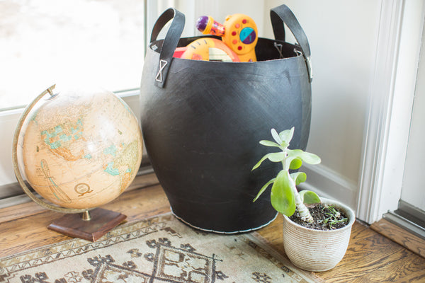 Extra Large Recycled Rubber Basket - Old New House