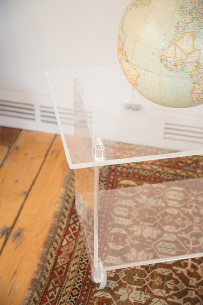 Vintage Lucite Rolling Cart Table - Old New House