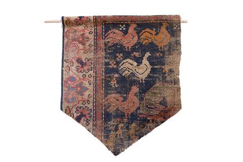 RUGLING 08: Limited Edition West Persian Rug Cork Board Flag // ONH Item RUGLING008