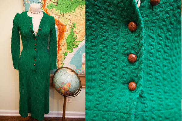 Vintage 60s Betsey Johnson Paraphernalia Green Dress // St. Patricks Day Outfit // Size 0 - 2 - Old New House