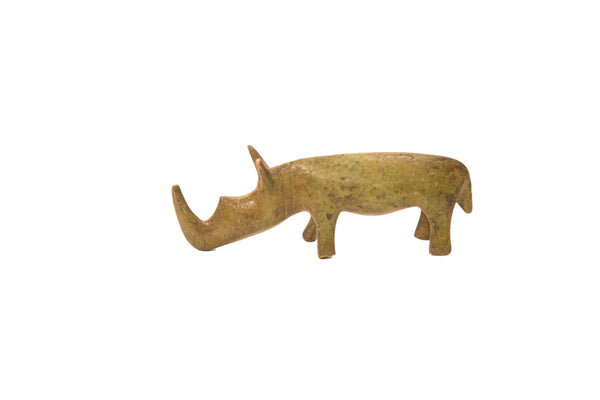 Vintage Rhinoceros Bronze Gold Weight