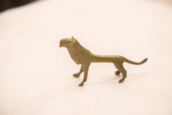 Vintage Large Male Lion Bronze Gold Weight