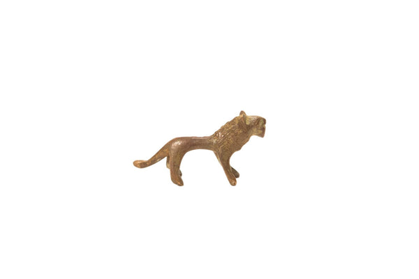 Vintage Oxidized Small Lion Bronze Gold Weight