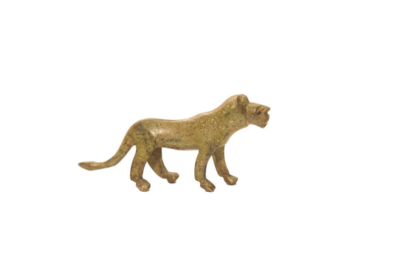 Vintage Large Lioness Bronze Gold Weight
