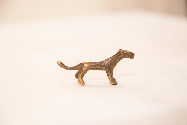 Vintage Tiny Cheetah Bronze Gold Weight