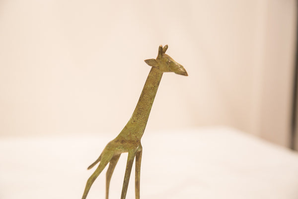 Vintage Large Giraffe Bronze Gold Weight