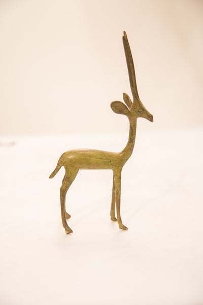 Vintage Large Gazelle Bronze Gold Weight