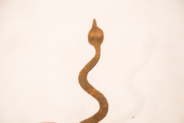 Vintage Iron Snake One Of A Kind African Lobi Tribe