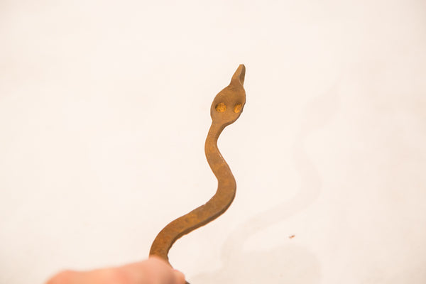Vintage Iron African Lobi Tribe Snake One Of A Kind