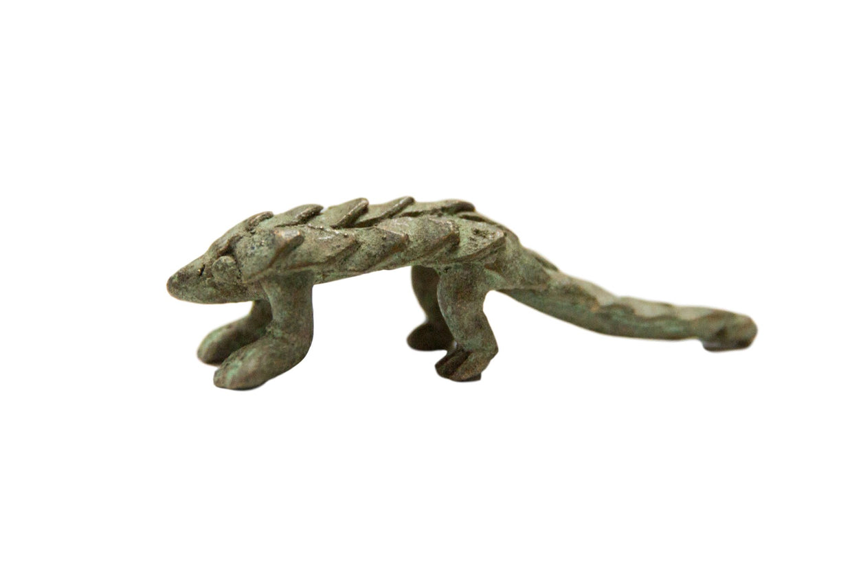 Vintage African Oxidized Bronze Pangolin // ONH Item ab00685