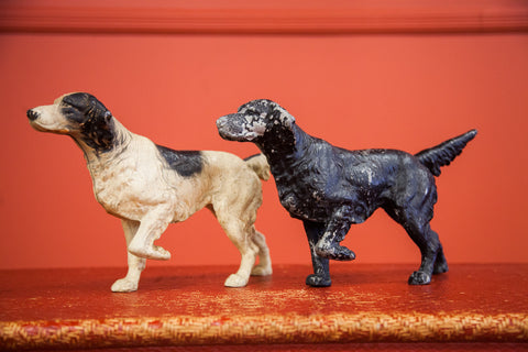 Vintage Pointer Dog Doorstops Cast Iron
