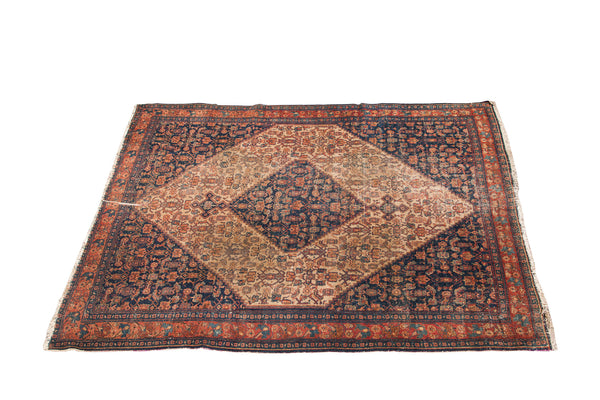 5x6 Antique Persian Senneh - Old New House