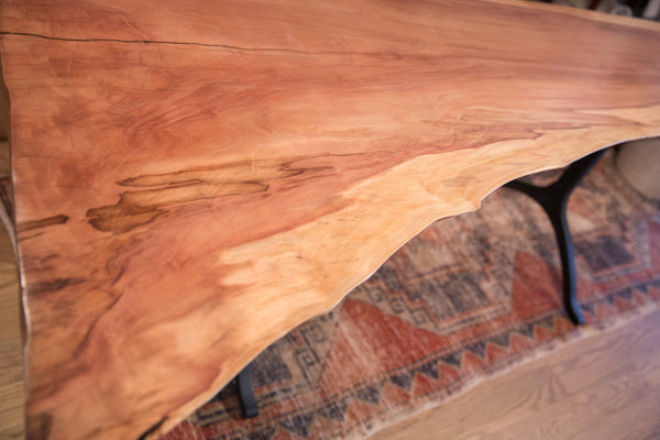 Handcrafted XL Live Edge Redwood Dining / Console Table / ONH Item as6861a6769a Image 4