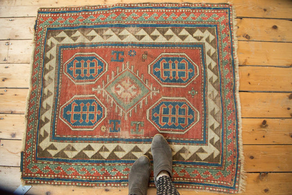Antique Kazak Square Rug / Item ct001110 image 2