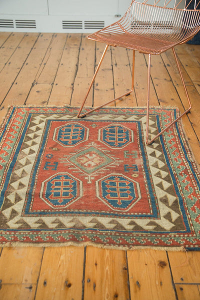 Antique Kazak Square Rug / Item ct001110 image 3