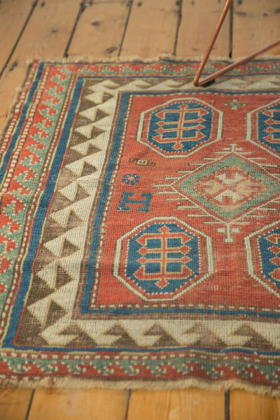 Antique Kazak Square Rug / Item ct001110 image 4