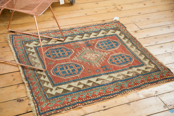 Antique Kazak Square Rug / Item ct001110 image 5