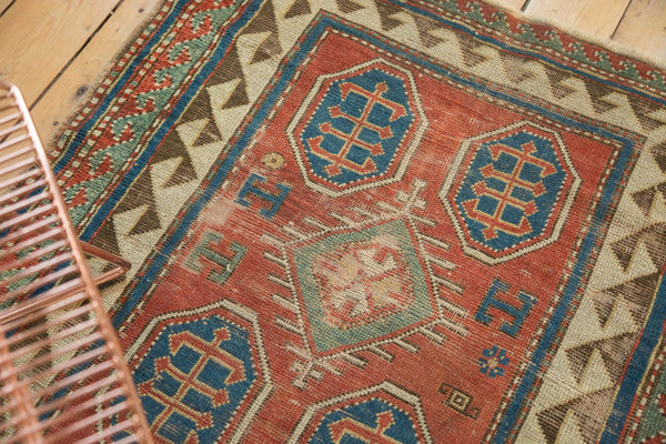 Antique Kazak Square Rug / Item ct001110 image 7
