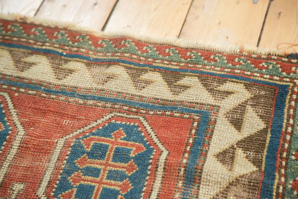 Antique Kazak Square Rug / Item ct001110 image 8