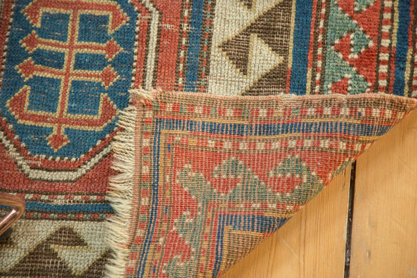 Antique Kazak Square Rug / Item ct001110 image 9
