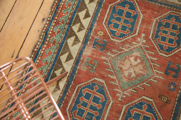 Antique Kazak Square Rug / Item ct001110 image 11