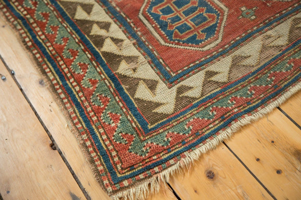 Antique Kazak Square Rug / Item ct001110 image 12