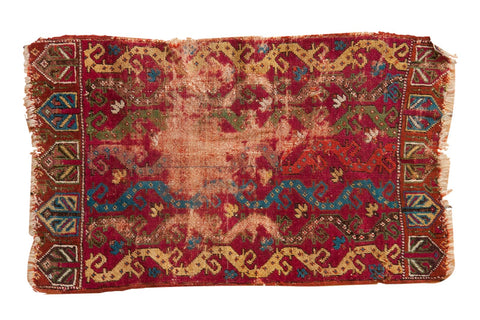 Antique Yastik Rug Mat / ONH item ct001137