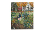 "Grace B. Keogh ""Girl in Garden"" Painting"