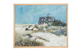 "Grace B. Keogh Painting ""Barn House on Beach"" // ONH Item ct001185"