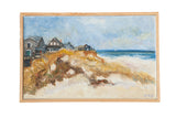 "Grace B. Keogh Painting ""Houses on Beach"" // ONH Item ct001186"