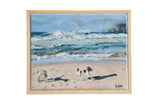 "Grace B. Keogh Painting ""Dogs on Beach"" // ONH Item ct001189"