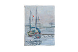 "Grace B. Keogh Painting ""Sailboats and Fog"" // ONH Item ct001190"