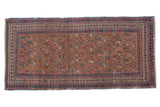 3x6.5 Antique Fine Caucasian Rug Runner // ONH Item ct001257