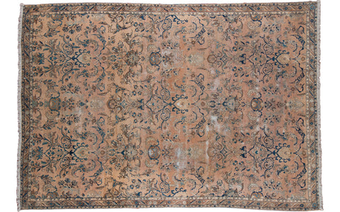 8x12 Distressed Persian Kerman Carpet - Old New House
