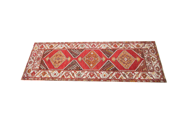 3.5x10 Vintage Oushak Runner - Old New House