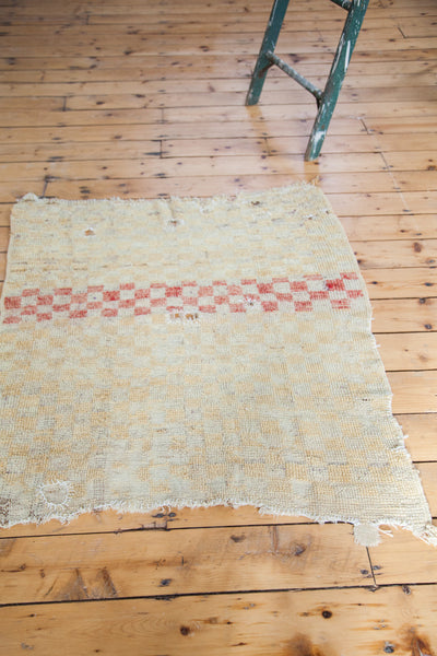 3.5x4 Vintage Tulu Square Rug - Old New House