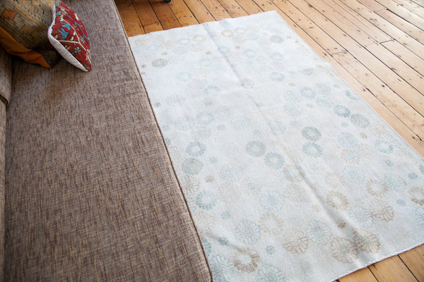 4x6.5 Distressed Modern Oushak Rug - Old New House