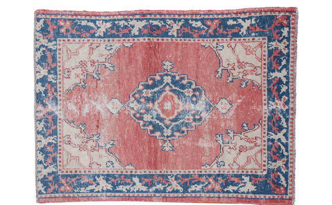 4x5 Vintage Oushak Rug - Old New House