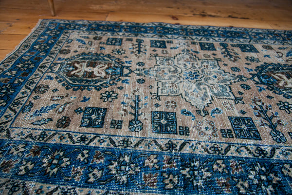 3x4 Distressed Heriz Square Rug - Old New House