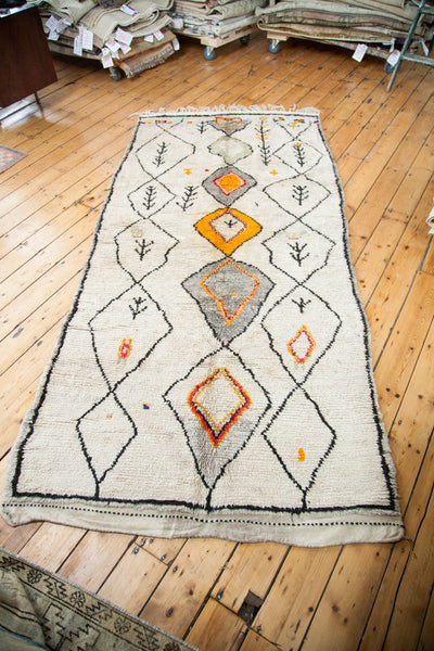 4x9.5 Vintage Moroccan Rug Runner - Old New House