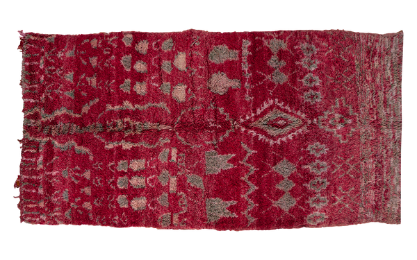 5.5x10.5 Vintage Moroccan Carpet - Old New House