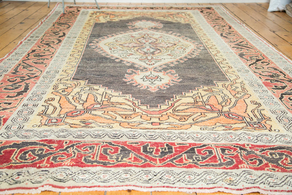 6x10.5 Distressed Oushak Carpet - Old New House