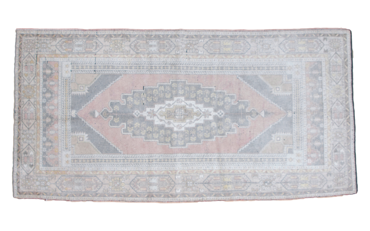 4x8 Vintage Oushak Rug Runner - Old New House