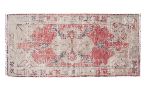 2.5x5.5 Distressed Oushak Rug Runner - Old New House