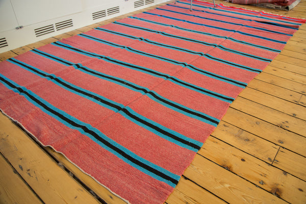 6x10.5 Vintage Moroccan Kilim Carpet - Old New House