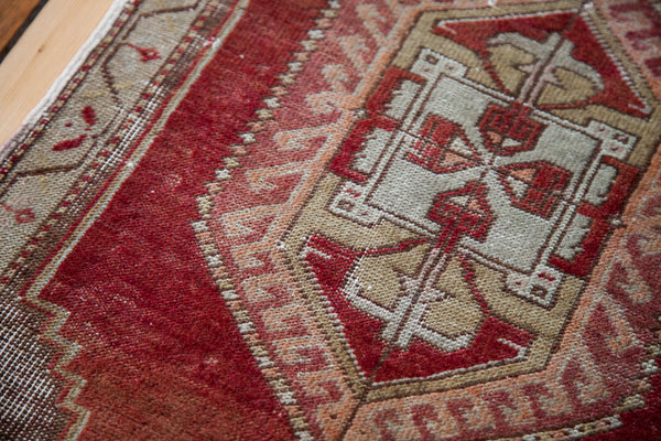 1.5x3 Vintage Distressed Anatolian Rug Runner - Old New House