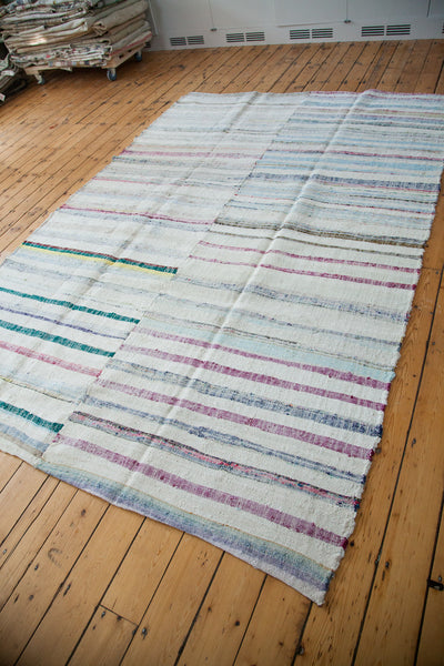 7x11 Vintage Rag Rug Carpet - Old New House