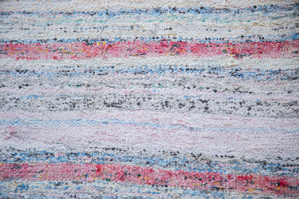 6.5x11 Vintage Rag Rug Carpet - Old New House