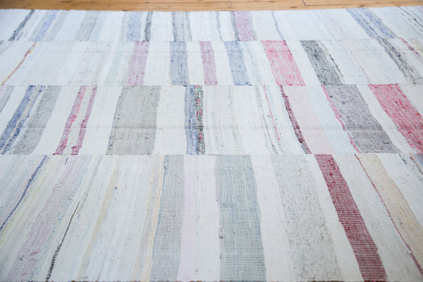 8x10.5 Vintage Rag Rug Carpet - Old New House